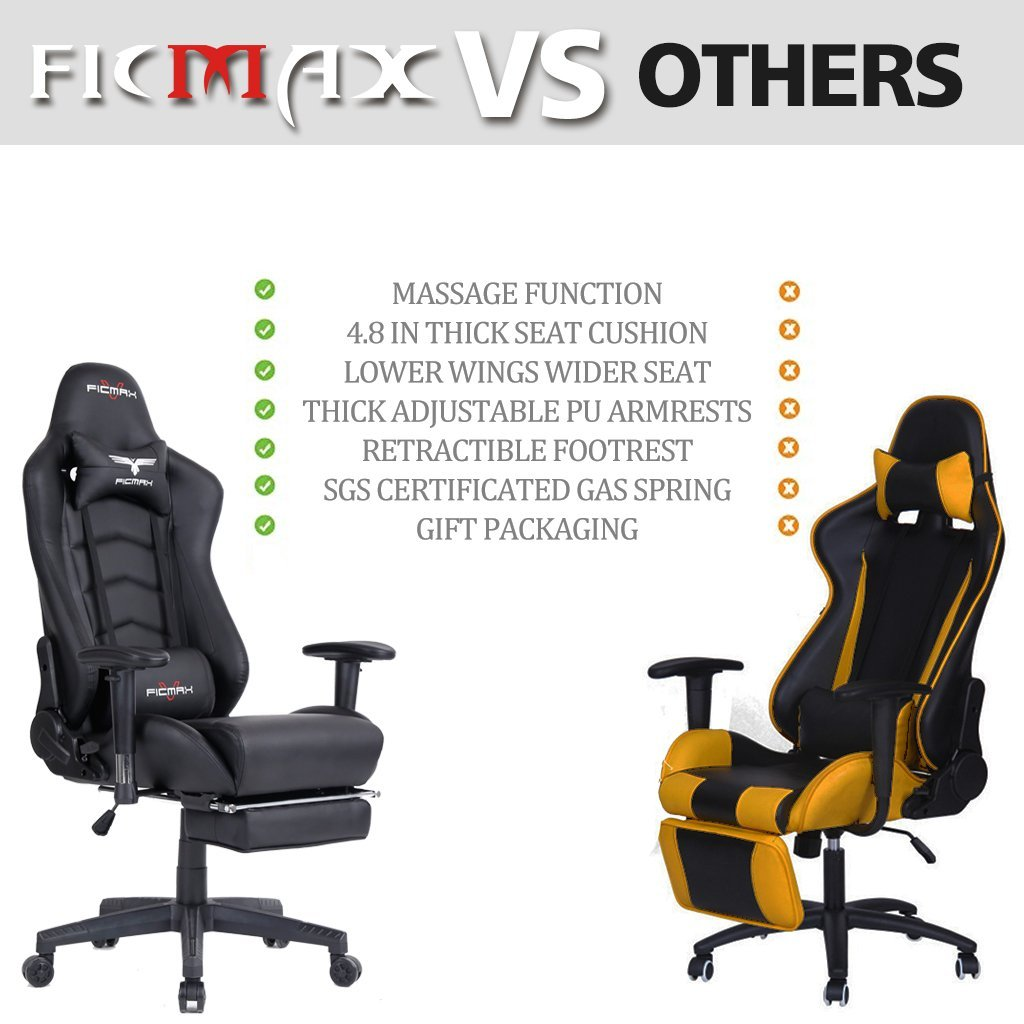 Ficmax FX-007 Ergonomic High-back PC Gaming Chair