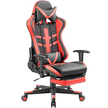 Homall Gaming Chair Ergonomic High-Back Racing Chair Pu Leather Bucket Seat, Computer Swivel