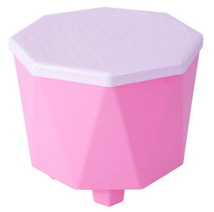 Image is loading Basicwise-Plastic-2-in-1-Step-Stool-with-