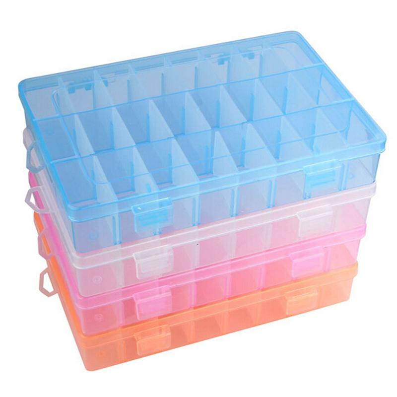 New Plastic 24 Slots Adjustable Jewelry Storage Box Case Organizer Container-in  Storage Boxes & Bins from Home & Garden on Traveller Location | Alibaba Group