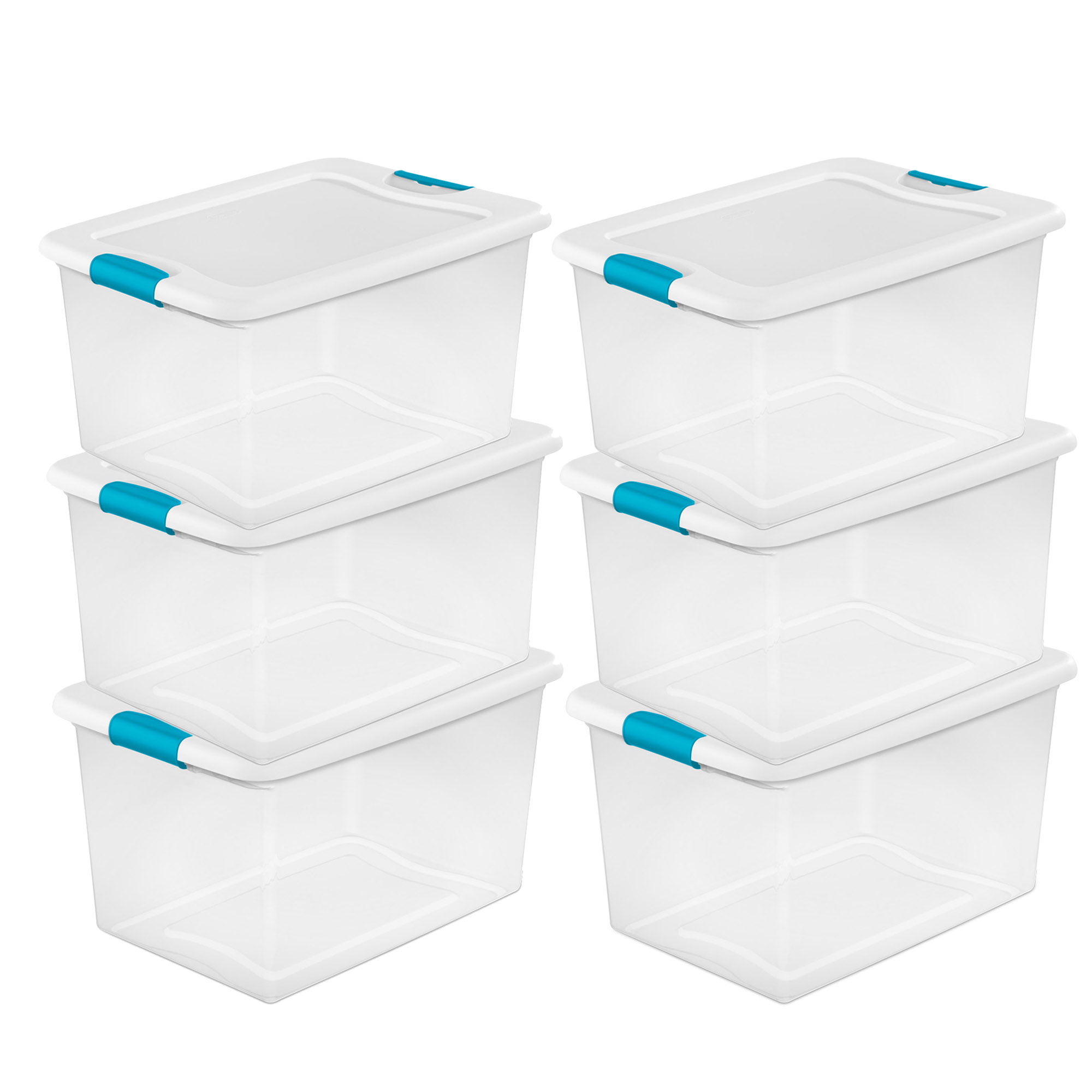 Sterilite 64 Quart Clear Plastic Storage Boxes Bins Totes w/ Latches (6  Pack) - Traveller Location