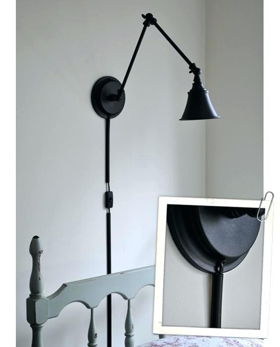 plug in wall sconce with cord cover plug in wall sconce with cord cover the  painted