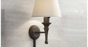 Braidy Bronze Plug-in Wall Sconce with Cord Cover