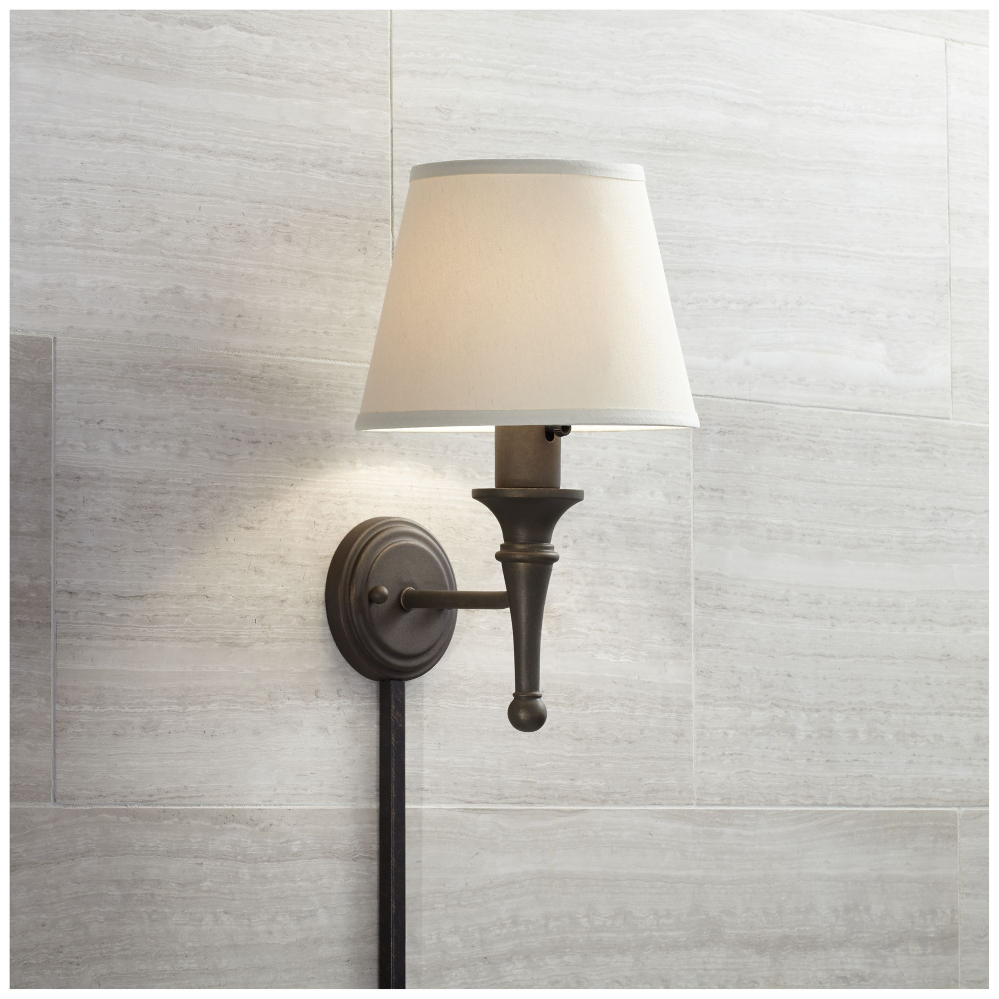 Ways by which plug in wall sconce with   cord cover can be installed