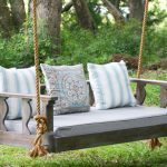 Porch swings with rope hangers are ideal   for unwinding and relaxing
