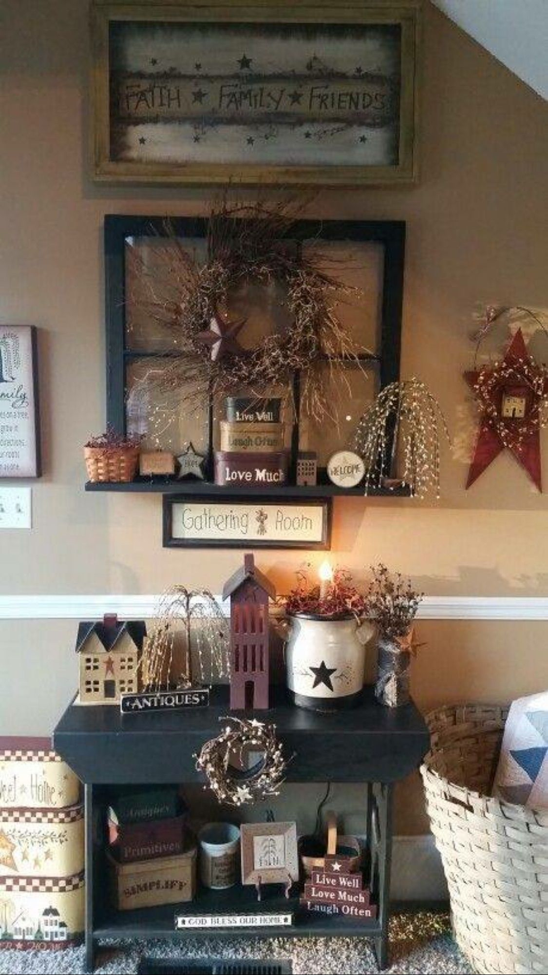 primitive country home decor : unchanged   tradition