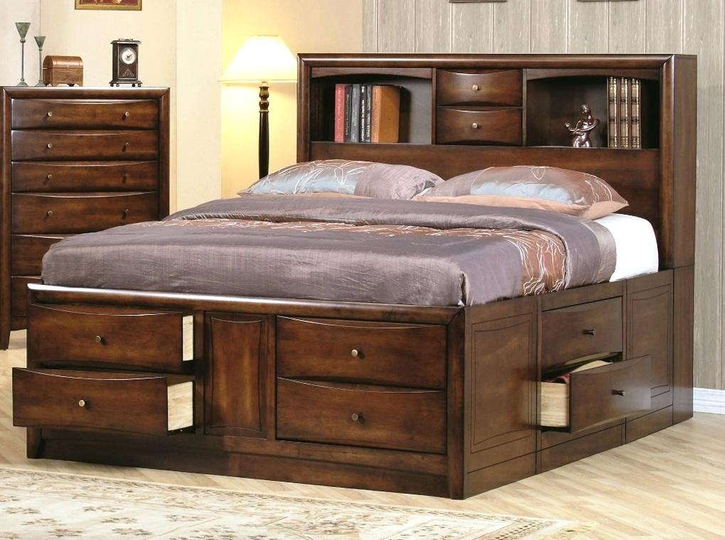 Image Of Queen Platform Bed With Storage Design Tall Frame