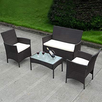Rattan garden furniture table set: the   beauty of garden