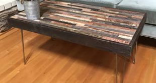 Rustic Modern Barnwood Coffee and End Tables - various sizes - Industrial  Furniture - Modern Reclaimed Wood, Rustic Wood and Vintage Hairpin