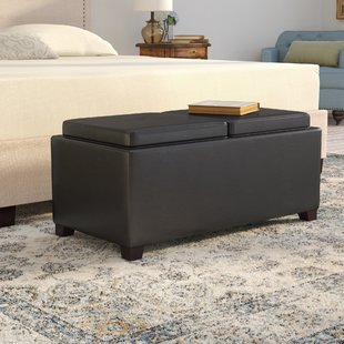 Leather Coffee Table Ottoman | Wayfair