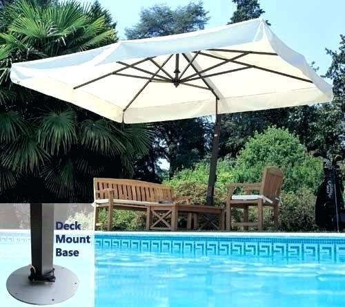 Rectangular Cantilever Umbrella Deck Umbrella Mount Patio Umbrella