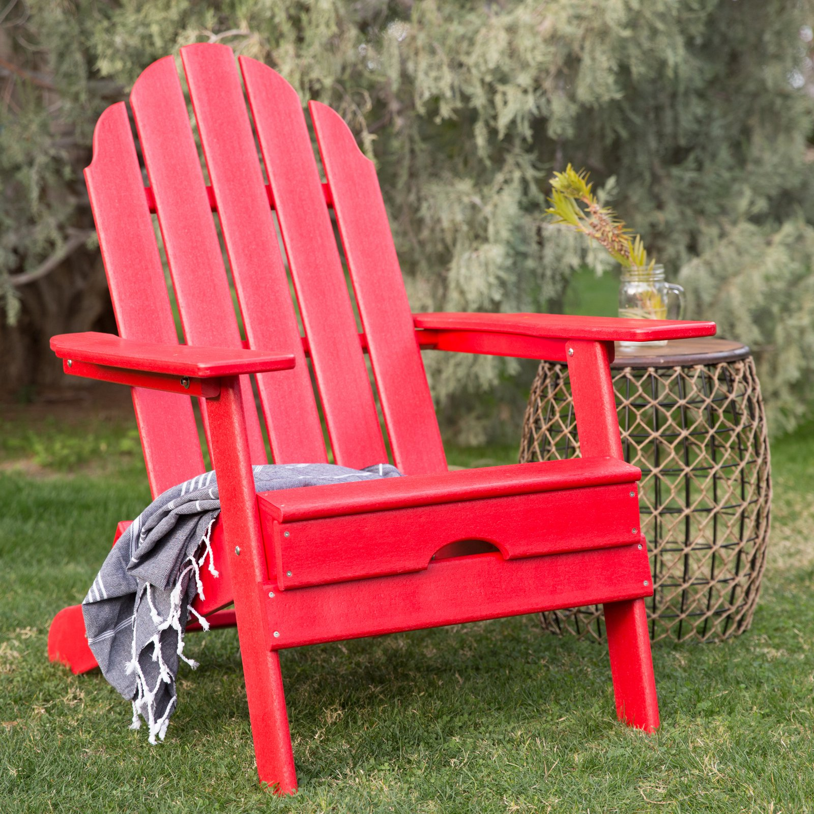 Belham Living Belmore Recycled Plastic Folding Adirondack Chair