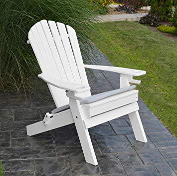 Amazon.com : POLYWOOD ADIRONDACK CHAIR FOLDING-2 Two Cup Holders