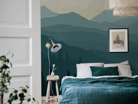 Gloomy Mountains Removable Wall Mural