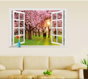 Removable Wall Sticker / Wall Mural - Scenery, Animal, Cartoon, Creative  Window View