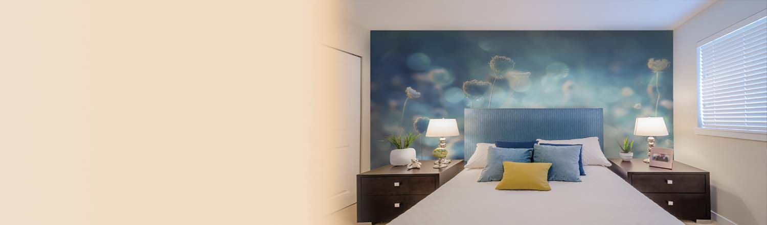 With the chance to customize your image, color, and size what will your  custom floral wall mural look like?