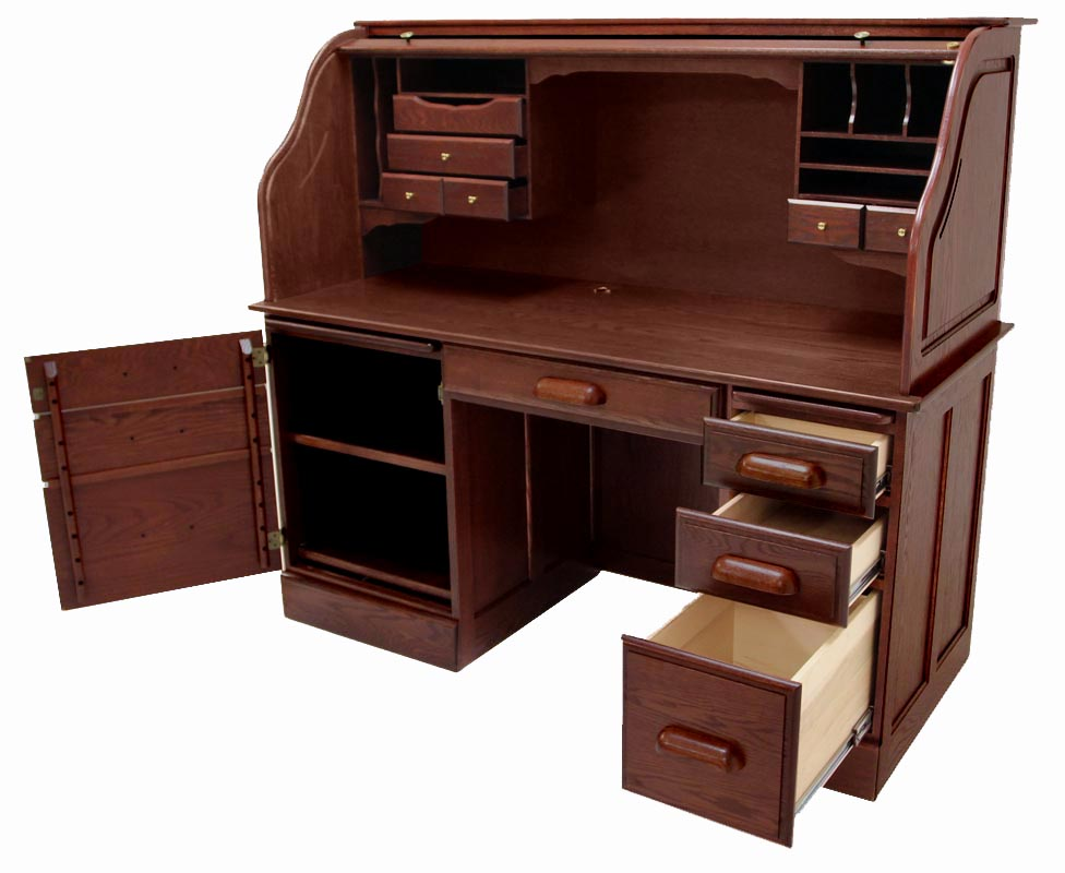 Rolltop Computer Desk in Cherry Finish - IN STOCK! 60