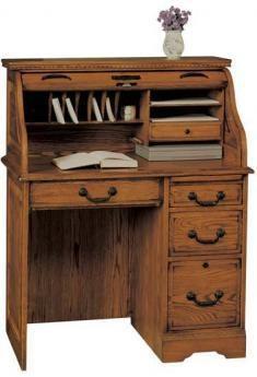 Heritage Oak Roll Top Desk