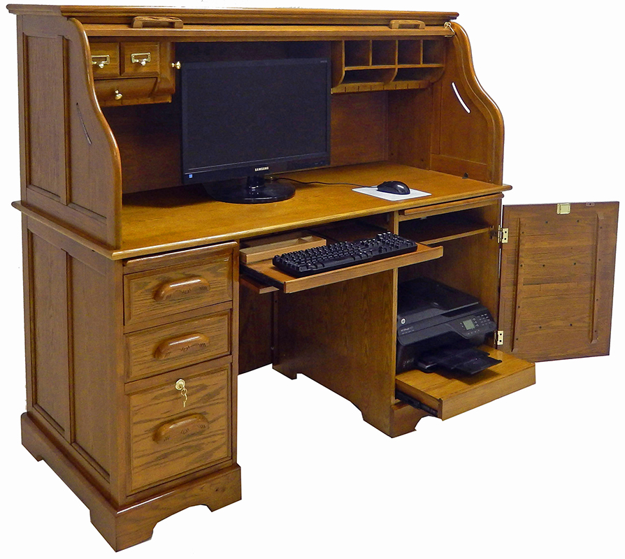 Roll Top Computer Desk - In Stock! 59