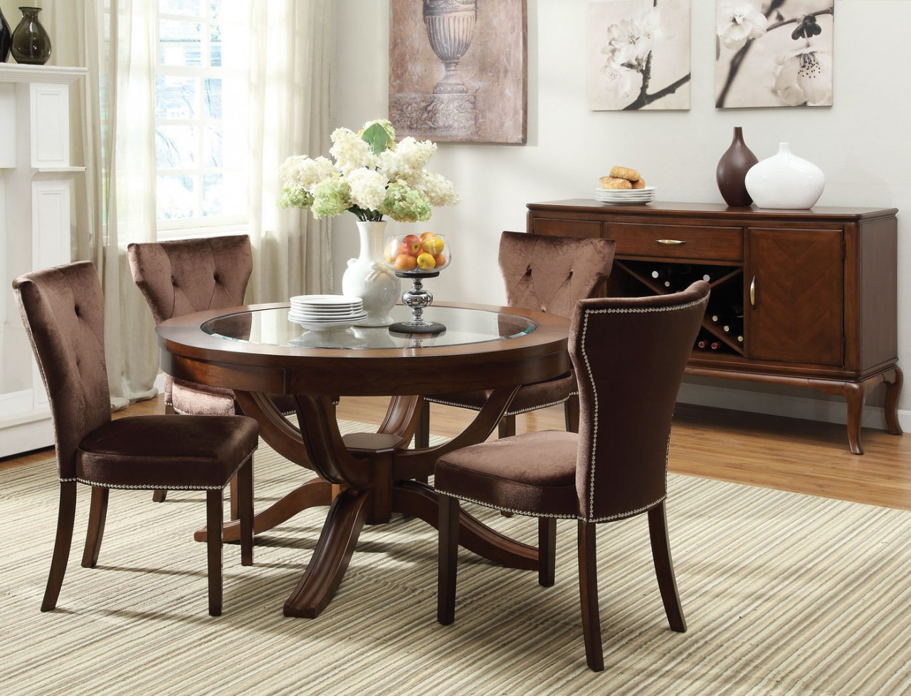 Alluring round glass top dining room   tables for every room of the house