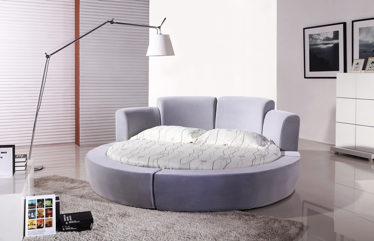 Super KIng Size Fabric Soft Bed, 2x2M Luxury Modern Design, Large Round  Shaped Super King Size confortable Fabric Bed CY001-2