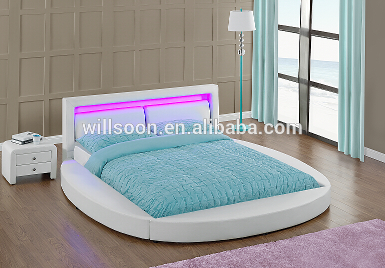 4 Colour Remote control led round shaped bed on sale