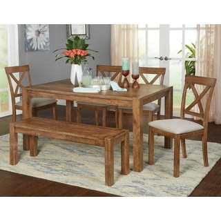 Simple Living 6-Piece Verdon Dining Set with Bench