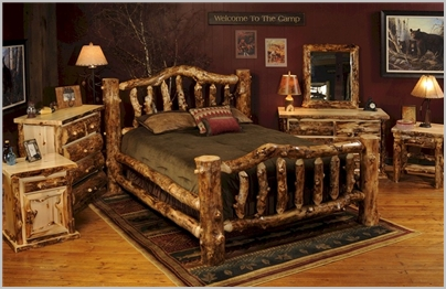 Rustic Aspen Log Bedroom Furniture