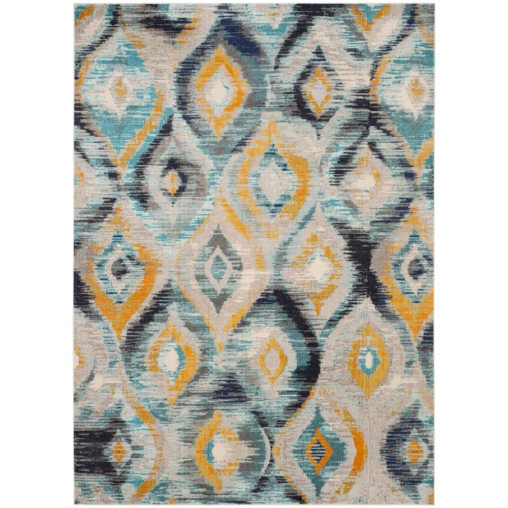Safavieh. Monaco Blue/Multi 9 ft. x 12 ft. Area Rug