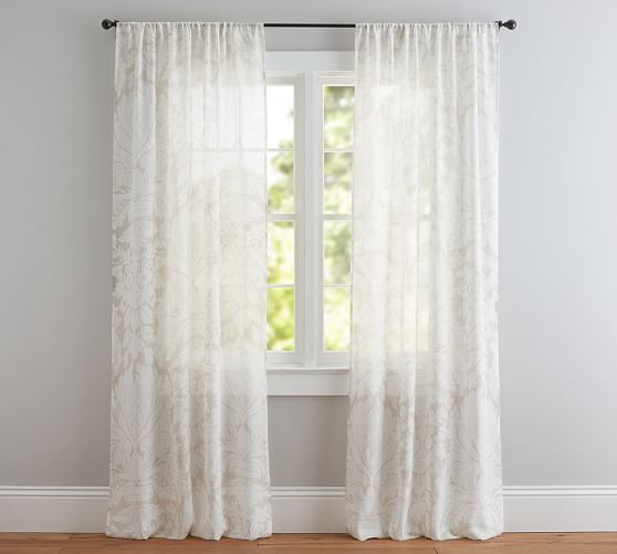 Damask Printed Sheer Curtain. Saved. View Larger. Roll Over Image to Zoom