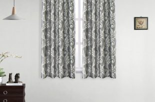 LOZUJOJU Short Blackout Curtains for Living Room Bedroom Thread Floral  Design Grey Curtain Modern Style Drapery for Kitchen Door Curtains Cheap  Curtains