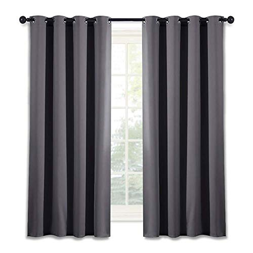 NICETOWN Blackout Window Curtain for Bedroom - (Grey Color) Home Decoration  Thermal Insulated Room