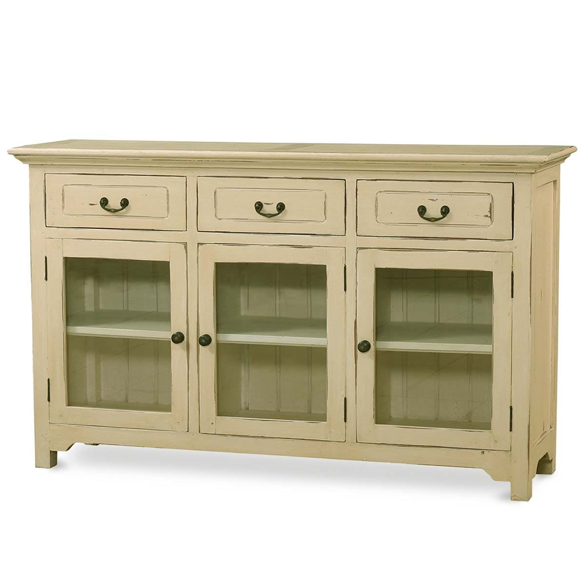 Bramble Dining Room Aries 3 Door Sideboard With Glass Door 25730