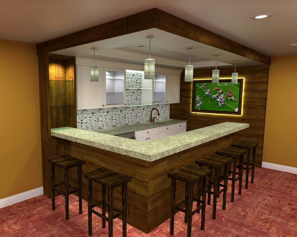 Simple Basement Bar Ideas