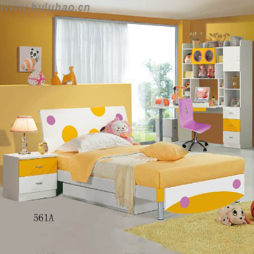 New design fashion style single kids bed for sale