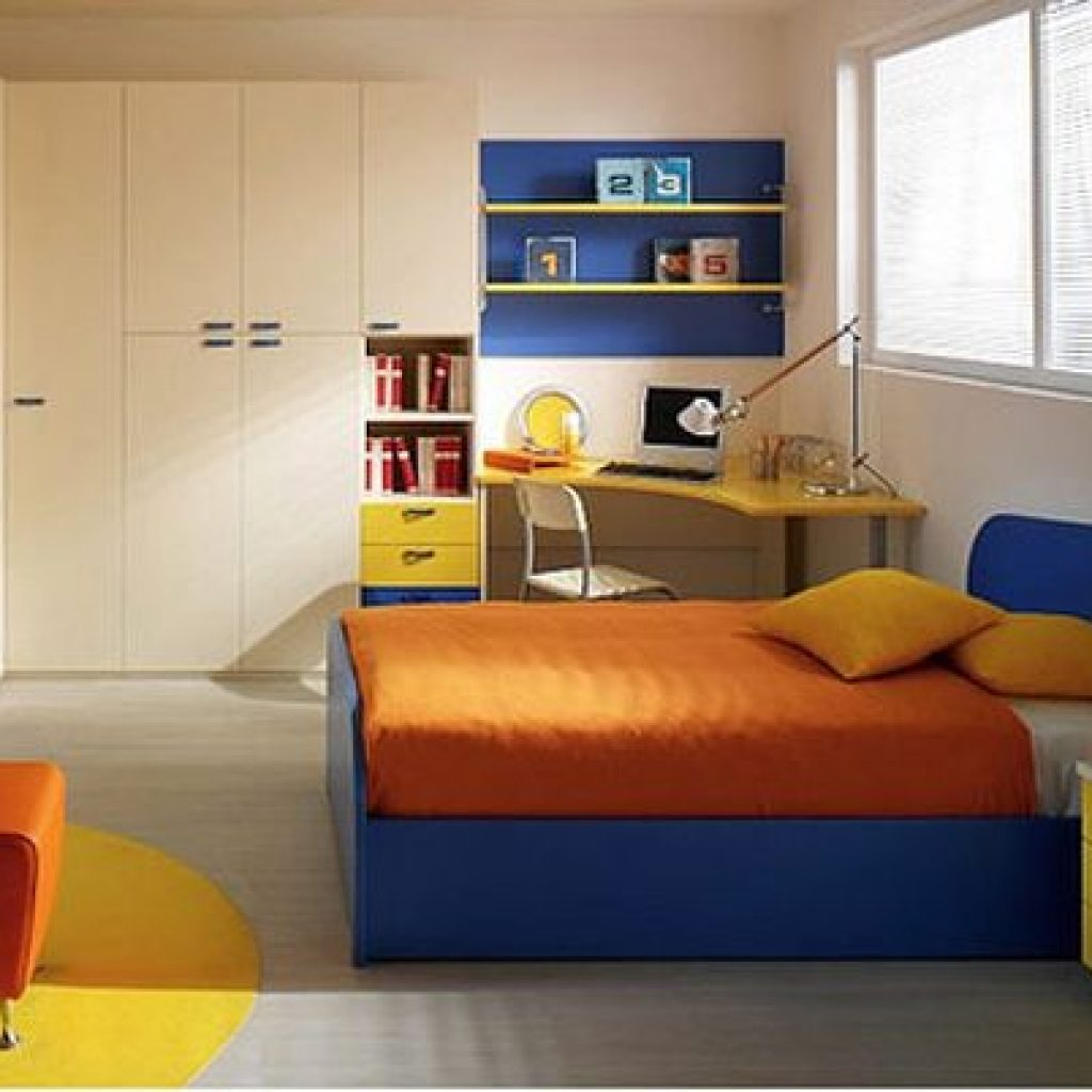 A fun filled and cool simple kids room   design for boys
