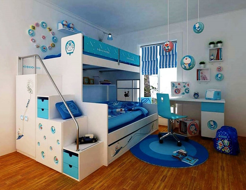 Simple Baby-Boys Girls Luxury Kids Bedroom Interior Design