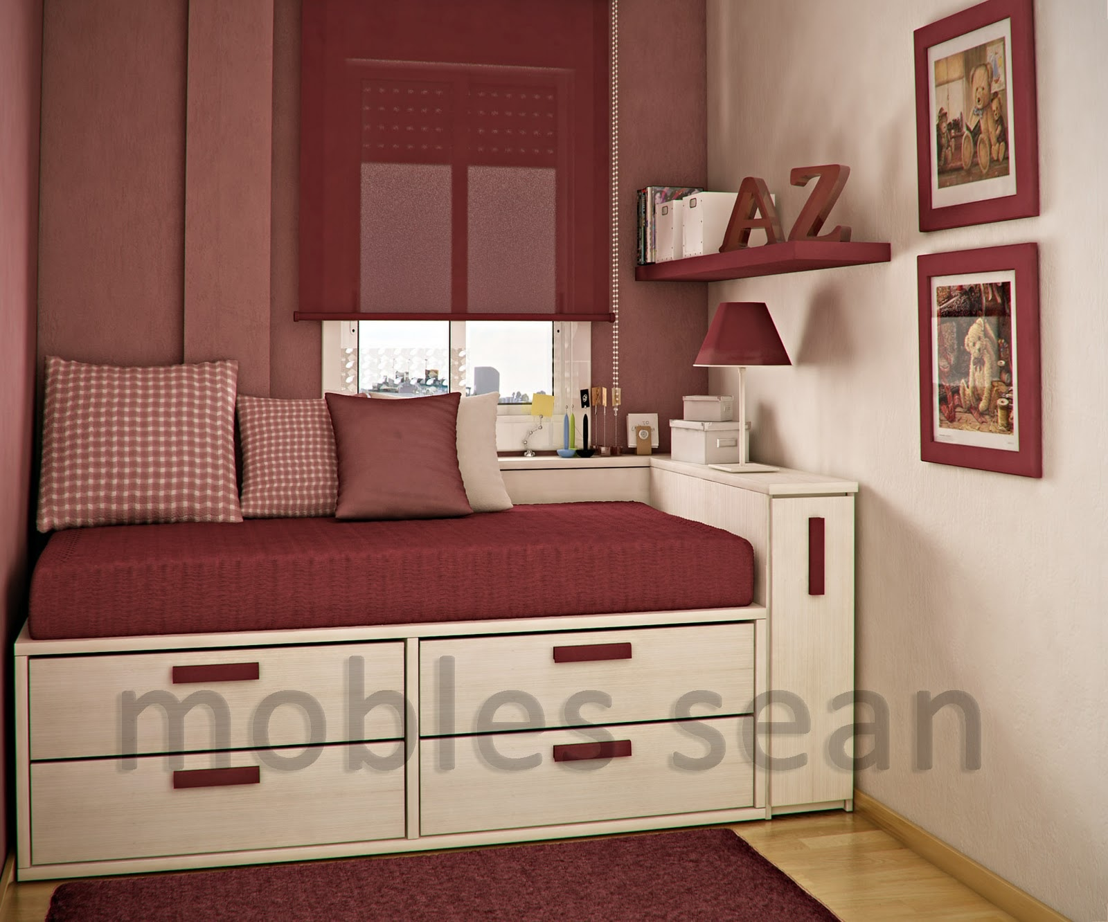 Red White Small Kids Rooms Space Saving Design House Property Renovate  Brilliant White Color Home Designing