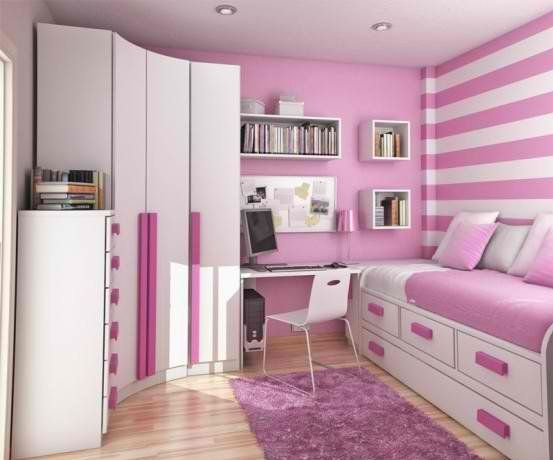 small room decor ideas for teen girls | Simple Small Room Design Ideas for  Teenage Girls Image via