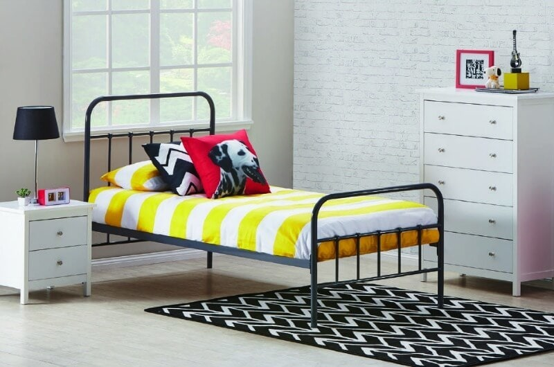 willow king single bed in black wrought iron from fantastic furniture