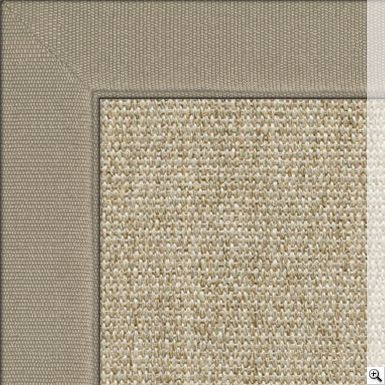 Sisal Linen Silver Rug. Border: Cotton Chenille / Oatmeal | FF&E