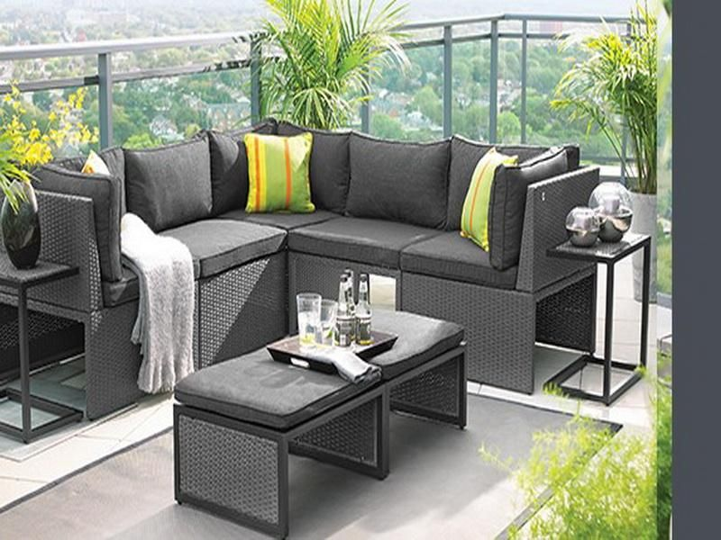 Balcony Height Patio Furniture Set - Modern Patio