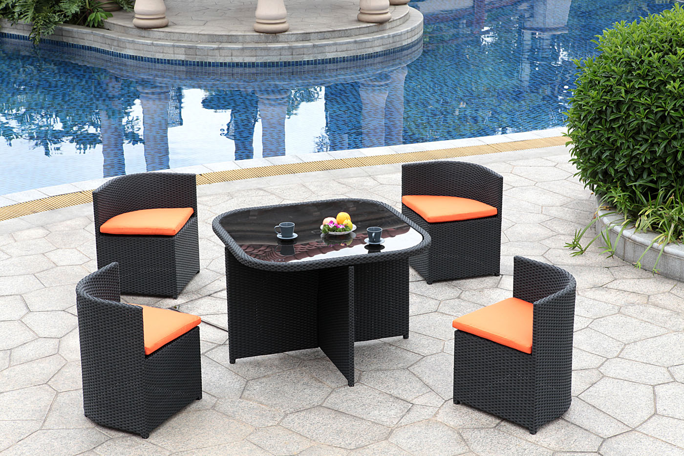Patio, Small Patio Furniture Sets Patio Table And Chairs Pool Round Table  Chair Webbing Cup