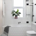How to make small bathroom design with   bathtub and shower look bigger