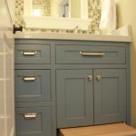 Arranging a small bathroom vanity with   storage