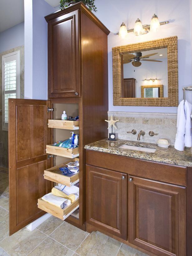 18 Savvy Bathroom Vanity Storage Ideas | Home is Here | Bathroom vanity  storage, Bathroom, Bathroom cabinets