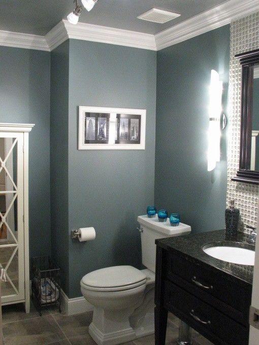 bathroom paint idea Benjamin Moore Smokestack Grey. love this color