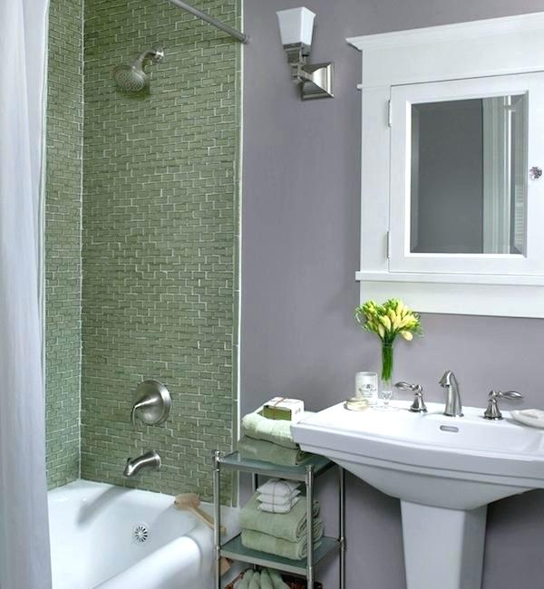 Infuse color for your small bathroom wall   paint color ideas