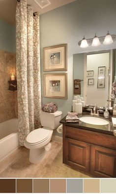 Provide a calming, spa vibe in your bathroom with Benjamin Moore's