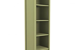 Cottage Tall Narrow Bookcase with Drawer   Cottage Home®